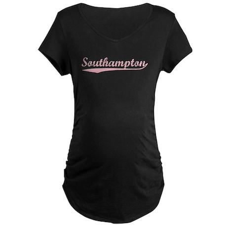 Vintage Southampton (Pink) Maternity Dark T-Shirt