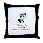 Rather Stitchin' than the Kit Throw Pillow