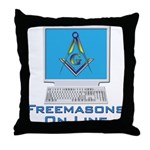 Wired Masons Throw Pillow