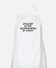 Cyclist Superhero by Night BBQ Apron