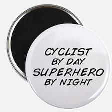 Cyclist Superhero by Night Magnet