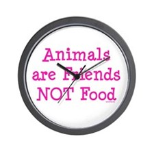 Animals are Friends Not Food Wall Clock
