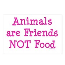 Animals are Friends Not Food Postcards (Package of