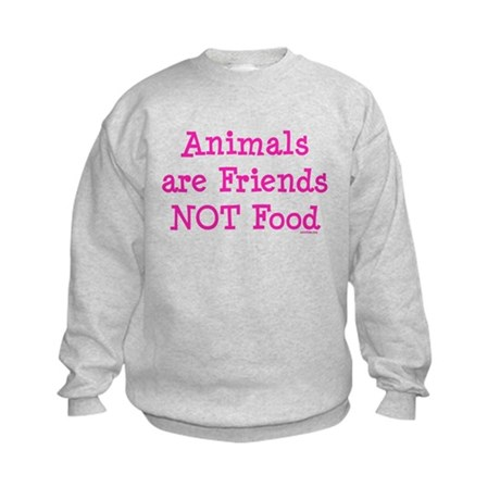 Animals are Friends Not Food Kids Sweatshirt