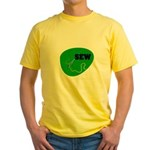 Sew - Needle and Thread Yellow T-Shirt