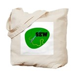 Sew - Needle and Thread Tote Bag