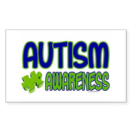 Autism Awareness 1.1 Rectangle Sticker