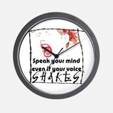 Speak Your Mind Wall Clock