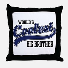 World's Coolest Big Brother Throw Pillow