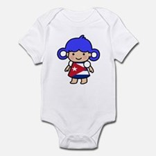 Cuba Flag Girl Infant Bodysuit