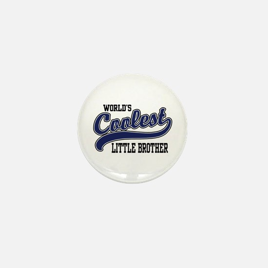 World's Coolest Little Brother Mini Button