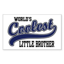 World's Coolest Little Brother Rectangle Decal