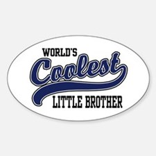 World's Coolest Little Brother Oval Decal