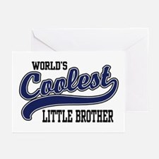 World's Coolest Little Brother Greeting Cards (Pk