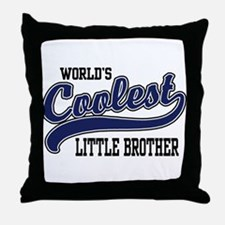 World's Coolest Little Brother Throw Pillow