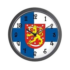 Finnish Flag Wall Clock