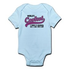 World's Coolest Little Sister Infant Bodysuit
