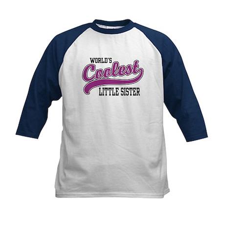 World's Coolest Little Sister Kids Baseball Jersey