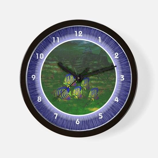 Sunfish Underwater Scene Wall Clock