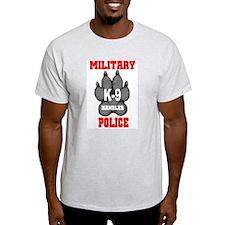 Military Police K9 Handler in Ash Grey T-Shirt