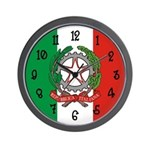 Italian Flag Wall Clock