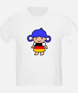 Germany Flag Girl T-Shirt