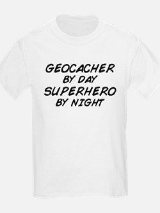 Geocacher Superhero by Night T-Shirt