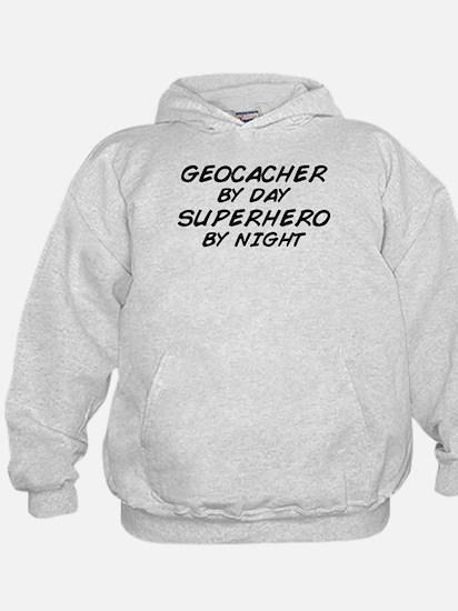 Geocacher Superhero by Night Hoodie
