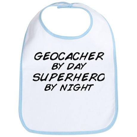Geocacher Superhero by Night Bib