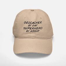 Geocacher Superhero by Night Baseball Baseball Cap