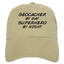Geocacher Superhero by Night Baseball Cap