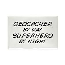Geocacher Superhero by Night Rectangle Magnet