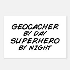 Geocacher Superhero by Night Postcards (Package of