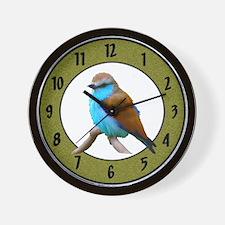 Bluebird Blue Bird Fowl Wall Clock