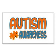 Autism Awareness 1.3 Rectangle Sticker 10 pk)
