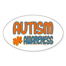 Autism Awareness 1.3 Oval Stickers