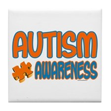 Autism Awareness 1.3 Tile Coaster