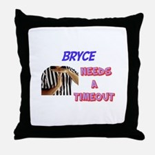 Bryce Needs a Timeout Throw Pillow