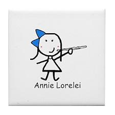 Flute - Annie Lorelei Tile Coaster