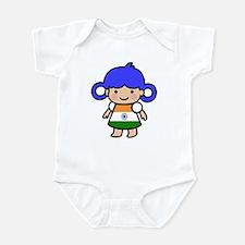 Flag of India Dress Girl Infant Bodysuit