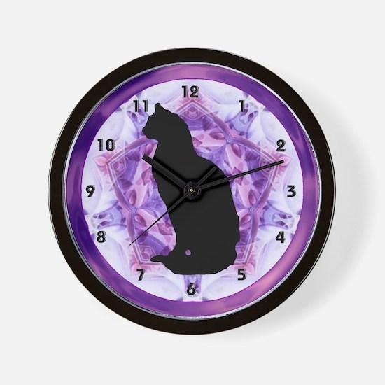 Cat Kitten Silhouette Clocks Wall Clock