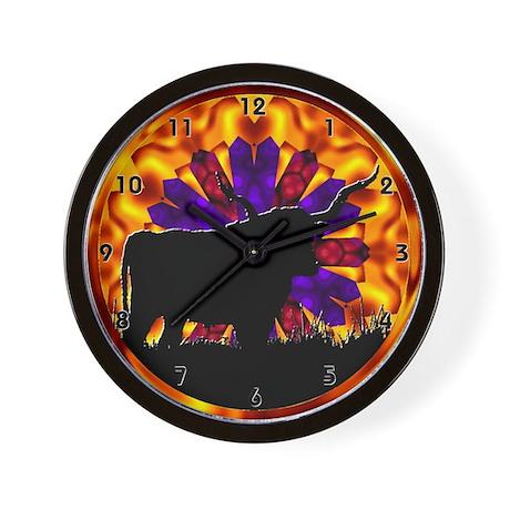 Texas Longhorn Clocks Wall Clock By Gazebogifts