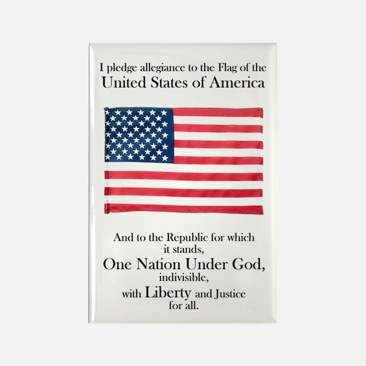 Pledge of Allegiance Rectangle Magnet
