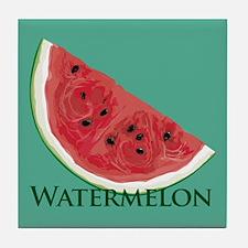 Watermelon Slice Tile Coaster