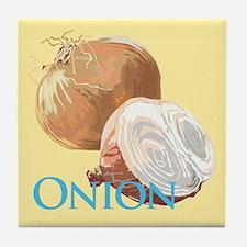 Yellow Onion Tile Coaster