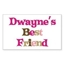 Dwayne's Best Friend Rectangle Decal