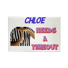Chloe Needs a Time-Out Rectangle Magnet