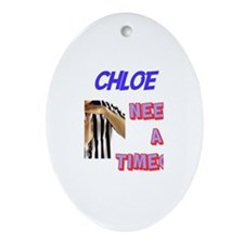Chloe Needs a Time-Out Oval Ornament