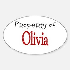 Olivia Oval Decal