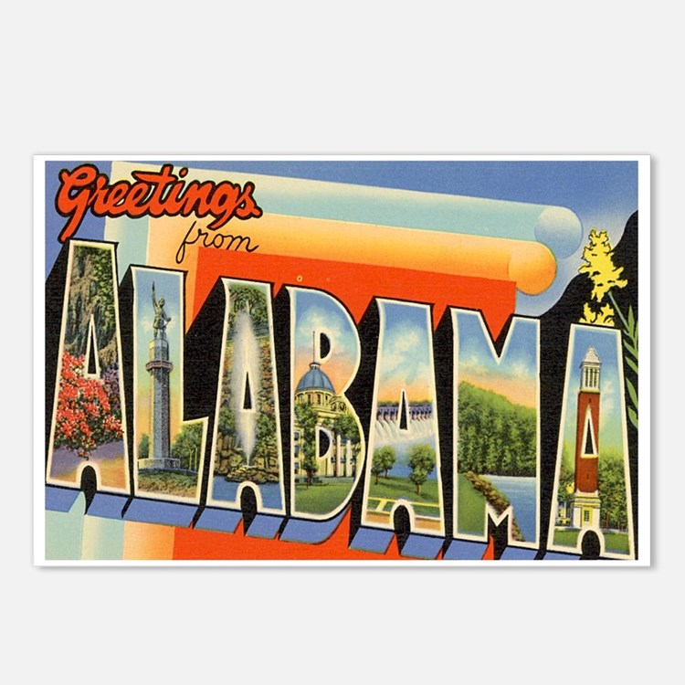 Alabama Postcard Postcards (Package of 8)